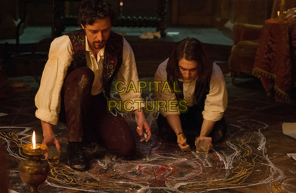 Victor Frankenstein (2015) <br /> James McAvoy and Daniel Radcliffe<br /> *Filmstill - Editorial Use Only*<br /> CAP/FB<br /> Image supplied by Capital Pictures
