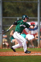 Dartmouth Big Green right fielder Kyle Holbrook (9) at bat during a game against the Eastern Michigan Eagles on February 25, 2017 at North Charlotte Regional Park in Port Charlotte, Florida.  Dartmouth defeated Eastern Michigan 8-4.  (Mike Janes/Four Seam Images)