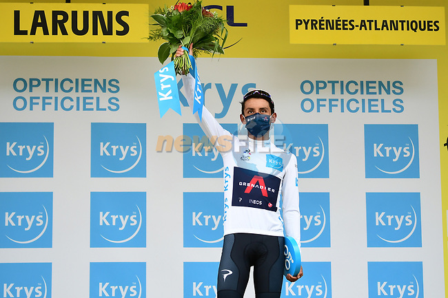 Egan Bernal (COL) Team Ineos Grenadiers retains the White Jersey at the end of Stage 9 of Tour de France 2020, running 153km from Pau to Laruns, France. 6th September 2020. <br /> Picture: ASO/Alex Broadway | Cyclefile<br /> All photos usage must carry mandatory copyright credit (© Cyclefile | ASO/Alex Broadway)