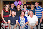 BIRTHDAY. A birthday dinner was held in McMunns Bar & Restaurant,Ballybunion on saturday night for Geraldine O'Connor (Ballylongford by her family. Front l-r: Matt,Geraldine (birthday lady) and Mossie O'Connor,Back l-r: Yvonne O'Connor, Ross,Alison, Ciaran and Christine Field and  Ray Doran (Ballylongford)