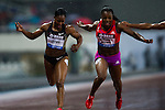 SHANGHAI, CHINA - MAY 19:  Veronica Campbell-Brown (R) of Jamaica competes to win the Women 200m during the Samsung Diamond League on May 19, 2012 at the Shanghai Stadium in Shanghai, China.  Photo by Victor Fraile / The Power of Sport Images