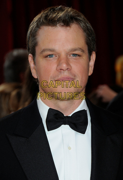 MATT DAMON .Attending the 82nd Annual Academy Awards held at the Kodak Theatre, Hollywood, California, USA, .March 7th, 2010..oscars arrivals portrait headshot black bow tie tuxedo tux .CAP/ADM/BP.©Byron Purvis/Admedia/Capital Pictures