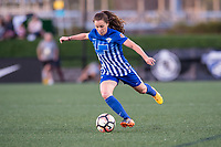 Boston, MA - Saturday April 29, 2017: Allysha Chapman during a regular season National Women's Soccer League (NWSL) match between the Boston Breakers and Seattle Reign FC at Jordan Field.