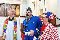 68th Annual Memorial Church service for celebrated clown Joseph Grimaldi at Holy Trinity church Dalston