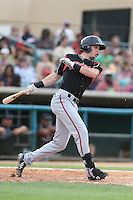 Travis Jankowski #2 of the Lake Elsinore Storm bats against the Lancaster JetHawks at The Hanger on August 2, 2014 in Lancaster, California. Lake Elsinore defeated Lancaster, 5-1. (Larry Goren/Four Seam Images)