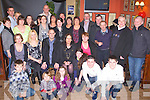 40TH BIRTHDAY: Brendan Connolly, Milltown (originally Mitchels Crescent, Tralee) with his partner Irene Flynn (seated 3rd & 4th left) enjoying a great time celebrating his 40th birthday with family and friends at the Anvil bar, Boolteens on Saturday.