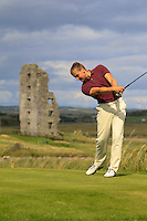 Jonathan Yates (Naas) on the 13th tee during Round 2 of The South of Ireland in Lahinch Golf Club on Sunday 27th July 2014.<br /> Picture:  Thos Caffrey / www.golffile.ie