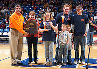 SAN ANTONIO, TX - FEBRUARY 11, 2006: The University of Texas at San Antonio Roadrunners select Mr. & Ms. UTSA for 2006 during halftime of the Lamar vs. UTSA Men's Basketball Game at the UTSA Convocation Center. (Photo by Jeff Huehn)