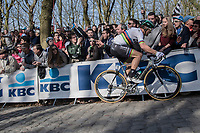 World Champion Peter Sagan (SVK/Bora-Hansgrohe) up the Kemmelberg<br /> <br /> 79th Gent-Wevelgem 2017 (1.UWT)<br /> 1day race: Deinze › Wevelgem - BEL (249km)