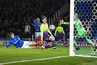 Christian Burgess of Portsmouth left scores an own goal during Portsmouth vs Exeter City, Leasing.com Trophy Football at Fratton Park on 18th February 2020
