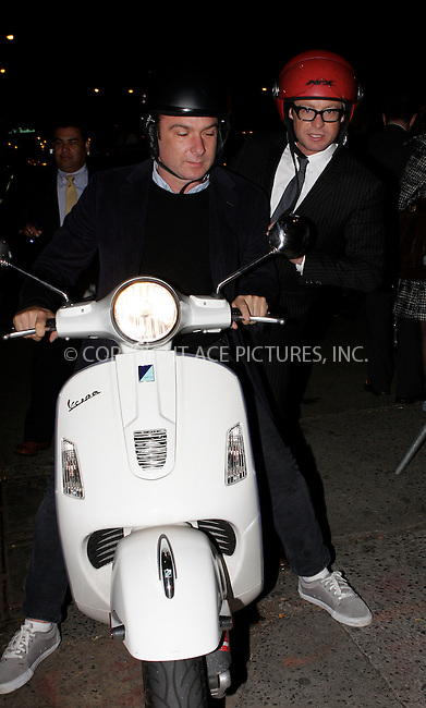 WWW.ACEPIXS.COM . . . . .  ....October 17 2011, New York City....(L-R) Liev Schreiber and Simon Baker arriving at the 'Margin Call' premiere at the Landmark Sunshine Cinema on October 17, 2011 in New York City. ....Please byline: NANCY RIVERA- ACEPIXS.COM.... *** ***..Ace Pictures, Inc:  ..Tel: 646 769 0430..e-mail: info@acepixs.com..web: http://www.acepixs.com