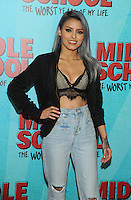 NEW YORK, NY - OCTOBER 01: Isabel Bedoya attends the New York Screening of Middle School: The Worst Years of My Life at Regal E-Walk on October 1, 2016 in New York City. Photo Credit: John Palmer/MediaPunch