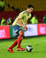 BOGOTA - COLOMBIA, 03-06-2019: Stefan Medina de Colombia en acción durante partido amistoso entre Colombia y Panamá jugado en el estadio El Campín en Bogotá, Colombia. / Stefan Medina of Colombia in action during a friendly match between Colombia and Panama played at Estadio El Campin in Bogota, Colombia.. Photo: VizzorImage / Nelson Rios / Cont