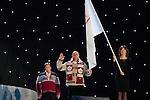 Hervé Lord takes the athletes oath during the opening ceremony of the 2010 Paralympic Games in Vancouver.
