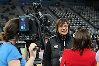 15.09.2012 Silver Ferns coach Waimarama Taumaunu in action at training at the Hisense Arena In Melbourne ahead of the first netball test match between the Silver Ferns and Australia. Mandatory Photo Credit ©Michael Bradley.
