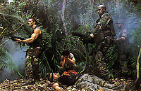 Predator (1987) <br /> Carl Weathers, Arnold Schwarzenegger, Jesse Ventura, Elpidia Carrillo &amp; Bill Duke<br /> *Filmstill - Editorial Use Only*<br /> CAP/KFS<br /> Image supplied by Capital Pictures
