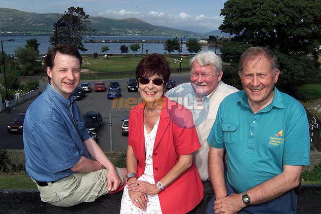 L/R, Paul Carroll, Ghan House B&B and Restaurant and Cookery School, Joanne McCartney, Belvedere House B&B and The Terrace Restaurant, Brian Mckevitt, The Oyster Catcher B&B and Bistro, Tom McArdle, Carlingford Adventure Centre..Picture: Paul Mohan/Newsfile