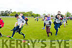Piggy Back race at the Gaelcholáiste Chiarraí Sports Day in aid of Jigsaw Kerry, held at Na Gael Clubhouse, Tralee on Friday morning.