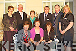 Members of Knockanure Community Centre at the Kerry Community Awards in the Dromhall Hotel, Killarney on Thursday evening front row l-r: Mary Flavin, Cathy Kennelly, Annette Heaphy. Back row: Ann Woods, Michael Murphy, Mary O'Connor, Sean Quirke, Denis Flavine and Siobhain Murphy..