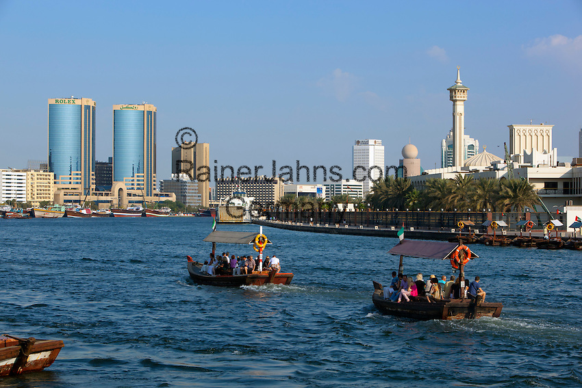 United Arab Emirates, Dubai: Abras along Dubai Creek | Vereinigte Arabische Emirate, Dubai: Abras am Dubai Creek