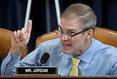 United States Representative Jim Jordan (Republican of Ohio) questions constitutional scholars during testimony before the US House Judiciary Committee in the Longworth House Office Building on Capitol Hill December 4, 2019 in Washington, DC. This is the first hearing held by the House Judiciary Committee in the impeachment inquiry against U.S. President Donald Trump, whom House Democrats say held back military aid for Ukraine while demanding it investigate his political rivals. The Judiciary Committee will decide whether to draft official articles of impeachment against President Trump to be voted on by the full House of Representatives. <br /> Credit: Drew Angerer / Pool via CNP