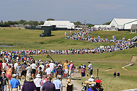 Huge crowds enjoy the sunshine during Friday's Round 2 of the 117th U.S. Open Championship 2017 held at Erin Hills, Erin, Wisconsin, USA. 16th June 2017.<br /> Picture: Eoin Clarke | Golffile<br /> <br /> <br /> All photos usage must carry mandatory copyright credit (&copy; Golffile | Eoin Clarke)