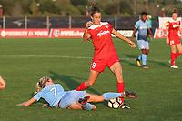 Piscataway, NJ - Sunday September 10, 2017: Nikki Stanton,Havana Solaun during a regular season National Women's Soccer League (NWSL) match between Sky Blue FC and the Washington Spirit at Yurcak Field.