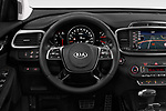 Car pictures of steering wheel view of a 2018 KIA Sorento GT Line 5 Door SUV