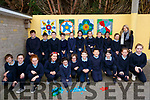 Clogher NS students display their Mindfulness Art at the school on Monday.