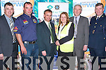 BE SAFE - BE SEEN: Aaron McHale Rally Driver and member of the Road Safety Authority launching the Be Safe - Be Seen Safety Campaign for Pedestrian and Cyclist at Manor West Hotel on Thursday evening l-r: Diarmuid Cronin, Community Alert, Aaron McHale, Road Safety Authority, John Long, Irish League of Credit Unions, Moira Lynch and Christy Killeen, Credit Union Chapter 23 and Garda Superintendent Micheal Donovan Cahirsiveen..   Copyright Kerry's Eye 2008