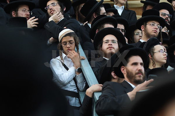 Ultra orthodox jews seen during  celebrations of the Jewish holiday of Lag Baomer, in Meron. Lag Baomer commemorates the death of Rabbi Shimon Bar Yochai, one of the most important sages in Jewish history 1800 years ago. The most well-known custom of Lag BaOmer is the lighting of bonfires throughout Israel and in Jewish communities worldwide. May 02, 2018. Photo by : JINIPIX