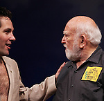 Paul Rudd and Ed Asner during the Opening Night Performance Curtain Call for 'Grace' at the Cort Theatre in New York City on 10/4/2012.