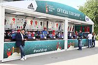 Offizieller Fanstand am Stadion - 14.06.2018: Russland vs. Saudi Arabien, Eröffnungsspiel der WM2018, Luzhniki Stadium Moskau