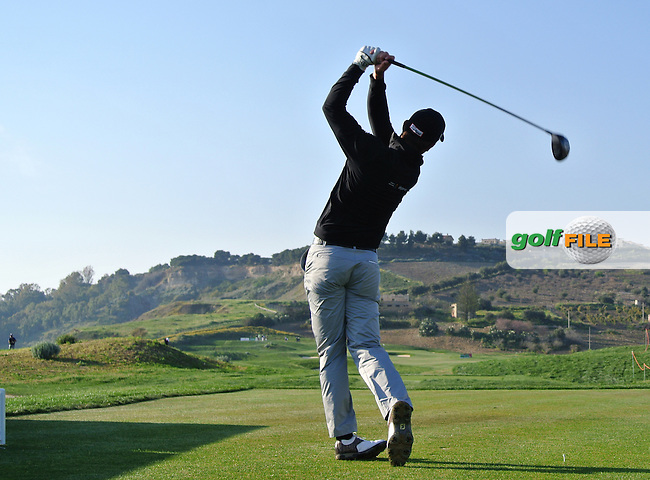 Ricardo Santos (POR) on the 17th tee on Day 2 of the 2012 Sicilian Open at Verdura Golf and Spa Resort, Sicily, Italy...(Photo Jenny Matthews/www.golffile.ie)