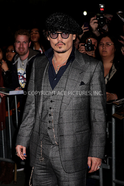 WWW.ACEPIXS.COM . . . . .  ....October 25 2011, New York City....Johnny Depp arriving at the 'The Rum Diary' New York premiere at the Museum of Modern Art on October 25, 2011 in New York City.....Please byline: NANCY RIVERA- ACEPIXS.COM.... *** ***..Ace Pictures, Inc:  ..Tel: 646 769 0430..e-mail: info@acepixs.com..web: http://www.acepixs.com