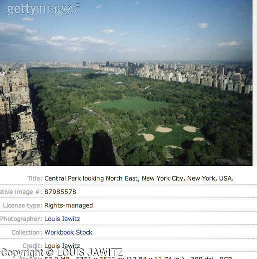 CENTRAL PARK, CPW ,NYC,  High Angle View, VIEW ,N.E. ,