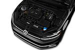 Car Stock 2018 Volkswagen Golf-Variant Comfortline 5 Door Wagon Engine  high angle detail view