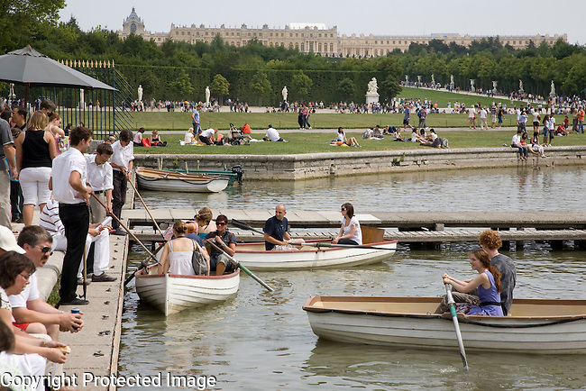 The Grand Canal, Versailles Palace Park and Gardens, Paris, France