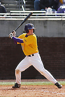 East Carolina University Pirates infielder Tim Younger #23 at bat during a game against the Stony Brook Seawolves at Clark-LeClair Stadium on March 4, 2012 in Greenville, NC.  East Carolina defeated Stony Brook 4-3. (Robert Gurganus/Four Seam Images)