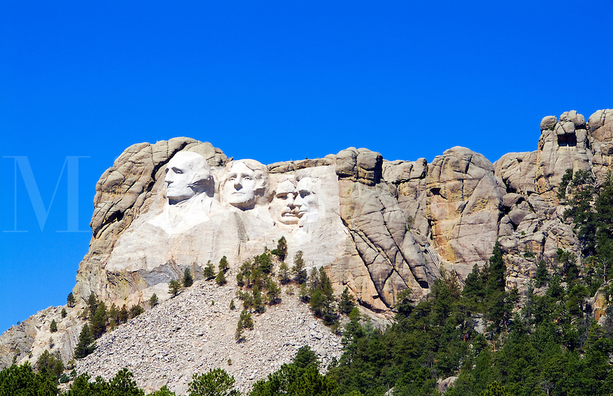 Mt Rushmore, South Dakota. Sculpture of our US Presidents Roosevelt Lincoln Washington and Adams