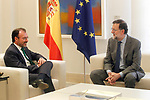 The President of the Government of Spain, Mariano Rajoy (r), receives in La Moncloa Palace the secretary of Foreign Relations of Mexico, Luis Videgaray. April 19,2017. (ALTERPHOTOS/Acero)