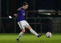 20180126 - OOSTAKKER , BELGIUM : Anderlecht's Heleen Jaques pictured during the quarter final of Belgian cup 2018 , a womensoccer game between KAA Gent Ladies and RSC Anderlecht , at the PGB stadion in Oostakker , friday 27 th January 2018 . PHOTO SPORTPIX.BE | DAVID CATRY