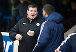 St Johnstone v Hamilton Accies…28.01.17     SPFL    McDiarmid Park<br />Tommy Wright talks with Martin Canning before kick off<br />Picture by Graeme Hart.<br />Copyright Perthshire Picture Agency<br />Tel: 01738 623350  Mobile: 07990 594431