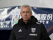 2nd December 2017, The Hawthorns, West Bromwich, England; EPL Premier League football, West Bromwich Albion versus Crystal Palace; West Bromwich Albion Head Coach Alan Pardew in the team dug out before the match
