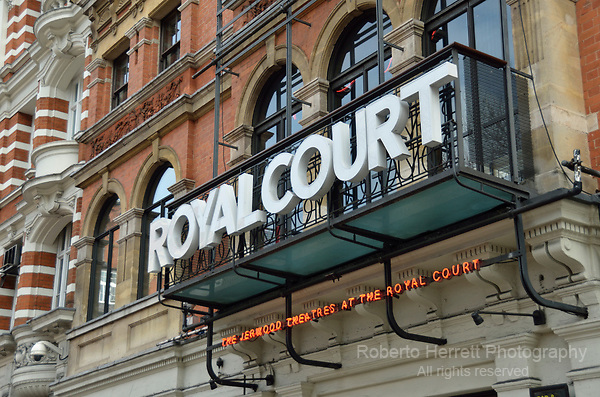 The Royal Court Theatre in Sloane Square, Chelsea, London, UK.