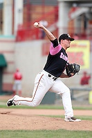 Erie Seawolves relief pitcher Rob Waite #38 delivers a pitch during a game against the Reading Phillies at Jerry Uht Park on May 29, 2011 in Erie, Pennsylvania.  Erie defeated Reading 6-5 in ten innings.  Photo By Mike Janes/Four Seam Images