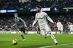 Real Madrid's Sergio Ramos and Real Sociedad's Aritz Elustondo during La Liga match between Real Madrid and Real Sociedad at Santiago Bernabeu Stadium in Madrid, Spain. January 06, 2019. (ALTERPHOTOS/A. Perez Meca)<br />  (ALTERPHOTOS/A. Perez Meca)