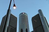 Detroit: downtown, centro città. Grattacieli della sede centrale della General Motors.