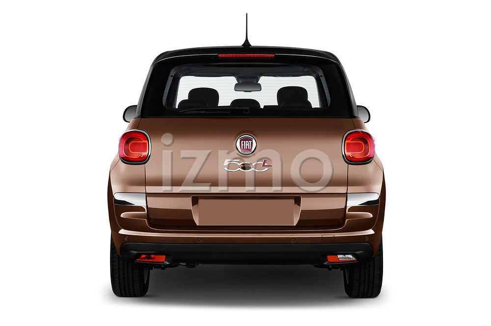 Straight rear view of a 2018 Fiat 500L Lounge 5 Door Mini Van stock images