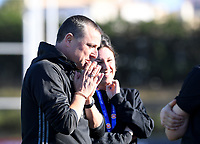 20200307  Parchal , Portugal : Belgian head coach Ives Serneels pictured prior to the female football game between the national teams of Belgium called the Red Flames and Portugal on the second matchday of the Algarve Cup 2020 , a prestigious friendly womensoccer tournament in Portugal , on saturday 7 th March 2020 in Parchal , Portugal . PHOTO SPORTPIX.BE | DAVID CATRY